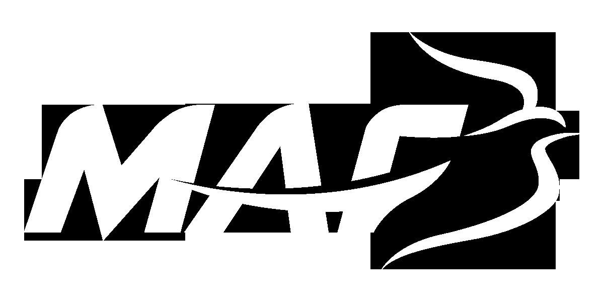 MAF Logo, White