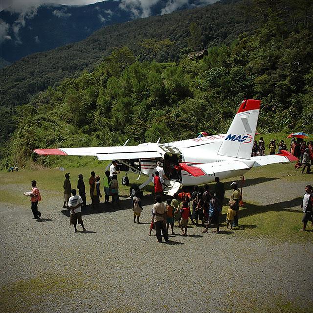 PK-MEA serving in Papua, Indonesia