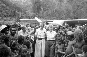 MAF Missionary pilot, Betty Greene in Papua, Indonesia.