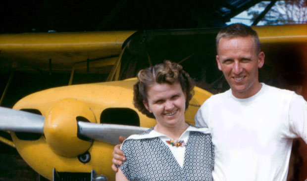 Missionary pilot, Nate Saint and his wife